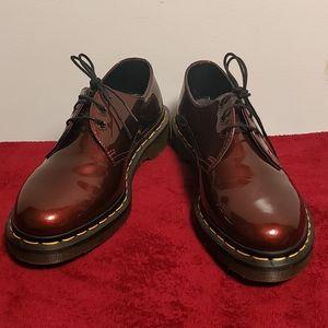 Dr. Martens red vegan leather shoe